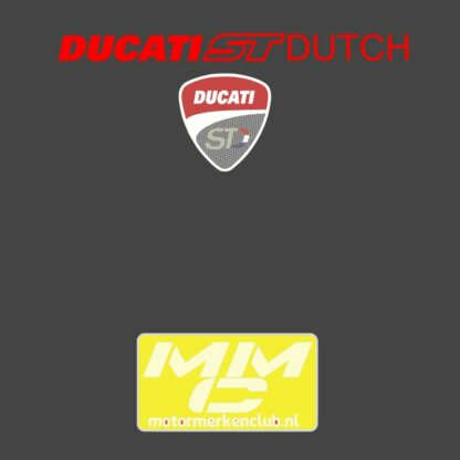 ST-Ducati T-shirt Donkergrijs Lady-fit