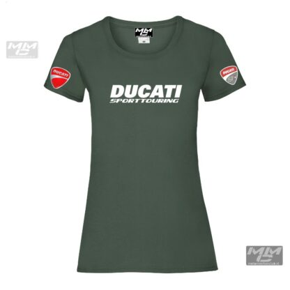 ST-Ducati T-shirt Groen Lady-fit