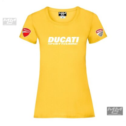 ST-Ducati T-shirt Geel Lady-fit