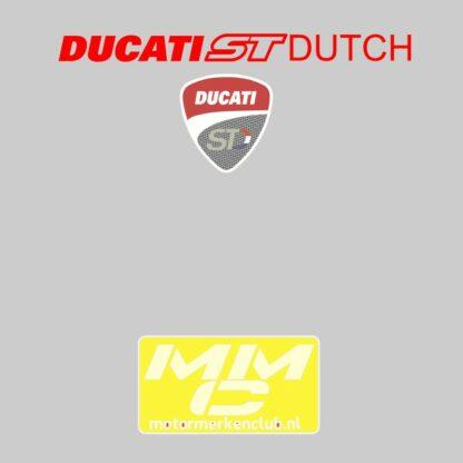 ST-Ducati T-shirt lichtgrijs Lady-fit