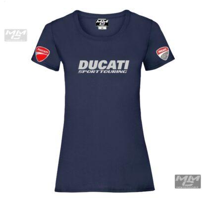 ST-Ducati T-shirt Donkerblauw Lady-fit