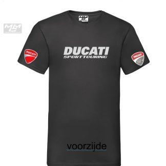 ST-Ducati V-hals shirt Zwart