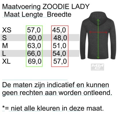 ST-Ducati Zoodie zwart-lady