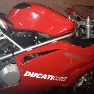 Ducati Corse sticker, wit.