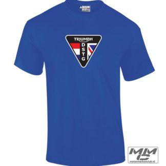koningsblauw T-shirt met groot DSTG logo voorop