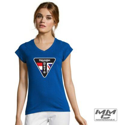 DSTG dames Tshirt met V-hals Zwart