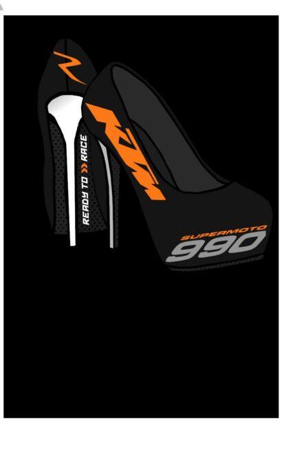 KTM SM-R990 high Heels-gloss-metallic