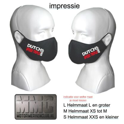 Triump Speed Triple Group mondkapje-mondmasker rood-wit